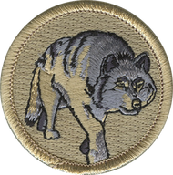 Official Licensed Walking Wolf Patrol Patch