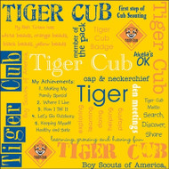 Tiger Cub Words 12x12 paper