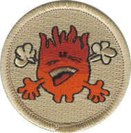 Red Flame Patrol Patch