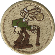 Official Licensed Old Man Patrol Patch