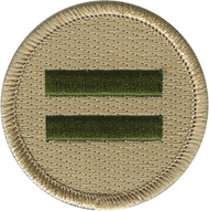 Official Licensed Double Green Bar Patrol Patch