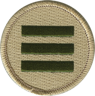 Official Licensed Triple Green Bar Patrol Patch