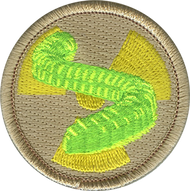 Official Licensed Radioactive Gummy Worms Patrol Patch