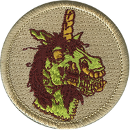Official Licensed Zombie Unicorn Patrol Patch
