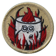 Official Licensed Cartoon Flaming Marshmallow Patrol Patch