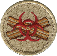 Official Licensed Biohazard Bacon Patrol Patch