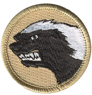 Official Licensed Angry Honey Badger Patrol Patch