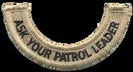 Ask Your Patrol Leader Rocker (Bottom)