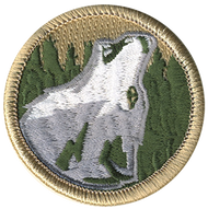 Howling Wolf Head Patrol Patch