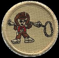 Lasso Gun Cowboy Patrol Patch