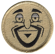 Goatee Man Patrol Patch