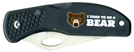 Wood Badge Bear Critter Head Lockback Knife