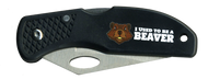 Wood Badge Beaver Critter Head Lockback Knife