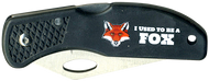 Wood Badge Fox Critter Head Lockback Knife
