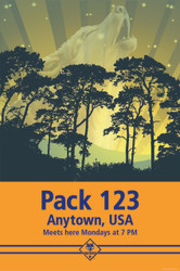 Custom Cub Scout Pack Howling Wolf Pack Poster (SP4670)