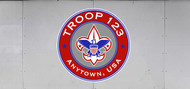 Custom Boy Scout Troop Trailer Graphic Corporate Circle (SP6479)