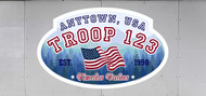 Custom Scouts BSA Troop Trailer Graphic Timeless Values Oval (SP6480)