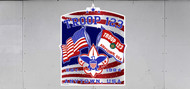 Custom Boy Scout Troop Trailer Graphic Patriotic Flags (SP6481)