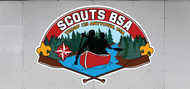Custom Scouts BSA Troop Trailer Graphic Canoe Scene (SP6489)