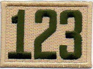 Triple Number Boy Scout Troop Unit Numeral Patch