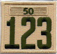 Triple Number Boy Scout Troop Unit Numeral With Veterans Bar Patch