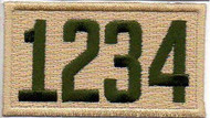 Four Number Boy Scout Troop Unit Numeral Patch