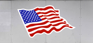 Trailer Graphic American Flag (SP6534)