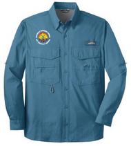 Eddie Bauer Long Sleeve Fishing Shirt - Camp V-Bar