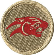Red Panther Patrol Patch
