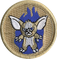 Blue Flame Monster Patrol Patch