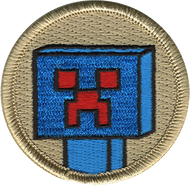 Blue Cube Monster Patrol Patch