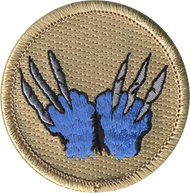 Blue Wolverine Patrol Patch