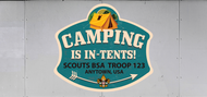 Custom Scouts BSA Troop Trailer Graphic Camping Is In-Tents (SP6626)