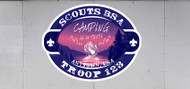 Custom Scouts BSA Troop Trailer Graphic Camping Is In-Tents (SP6628)