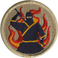 Flaming Ninja Patrol Patch