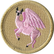Pink Flying Llama Patrol Patch