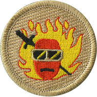 Flaming Hot Cheese Ball Patrol Patch