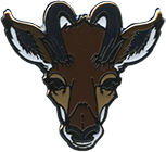 Wood Badge Antelope Critter Head Pin