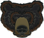 Wood Badge Bear Critter Head Pin