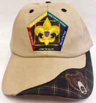Wood Badge Bear Critter Head Cap