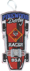 Pinewood Derby Wolf Racer Patch