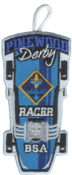 Pinewood Derby  Webelos Racer Patch - Retro