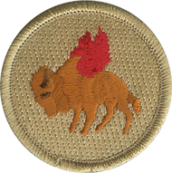Flaming Buffalo Patrol Patch