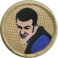 Man in Blue Shirt Patrol Patch