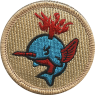 Flaming Narwhal Patrol Patch