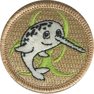 Radioactive Narwhal Patrol Patch