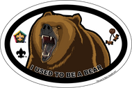 Wood Badge Bear Oval Magnet