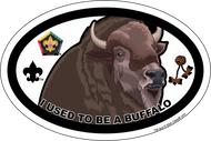 Wood Badge Buffalo Oval Magnet