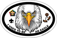 Wood Badge Eagle Critter Oval Magnet