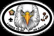 Old Logo Wood Badge Eagle Critter Oval Magnet